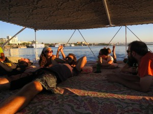 Sailing on the Nile on a Felucca
